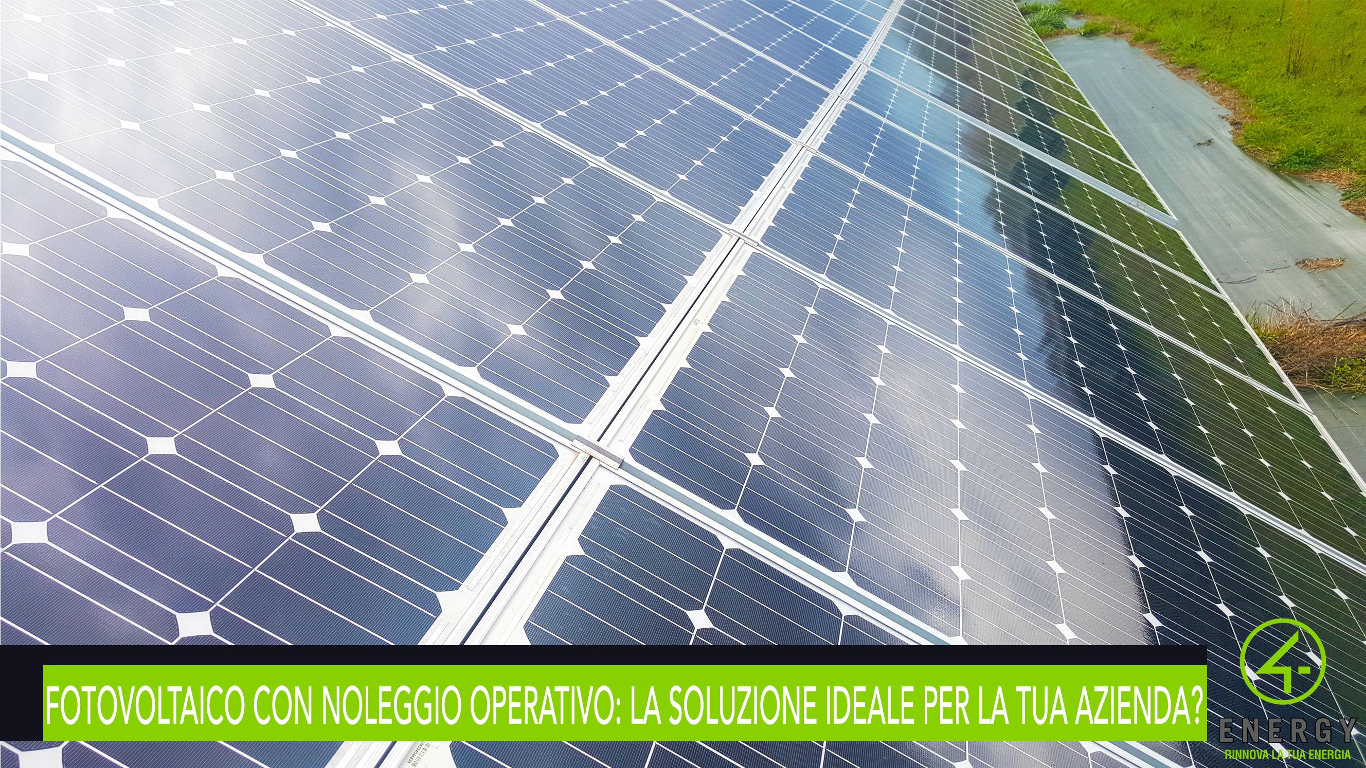 fotovoltaico noleggio operativo