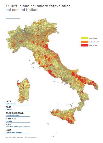 Crescita fotovoltaico in Italia