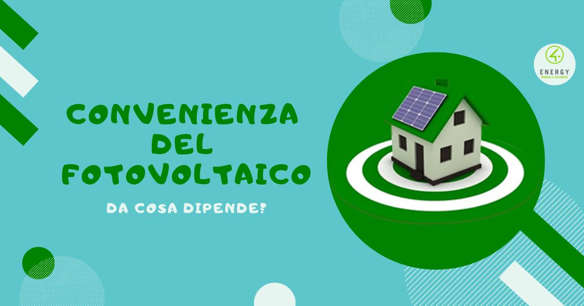 convenienza del fotovoltaico