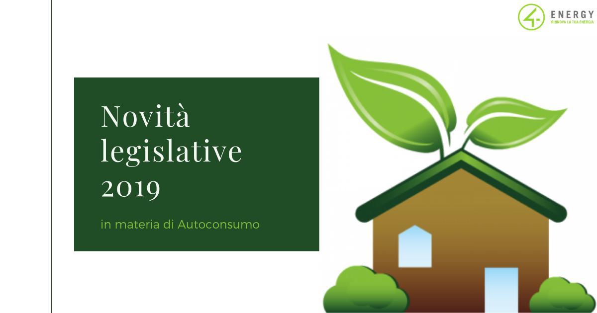 Novità legislative 2019