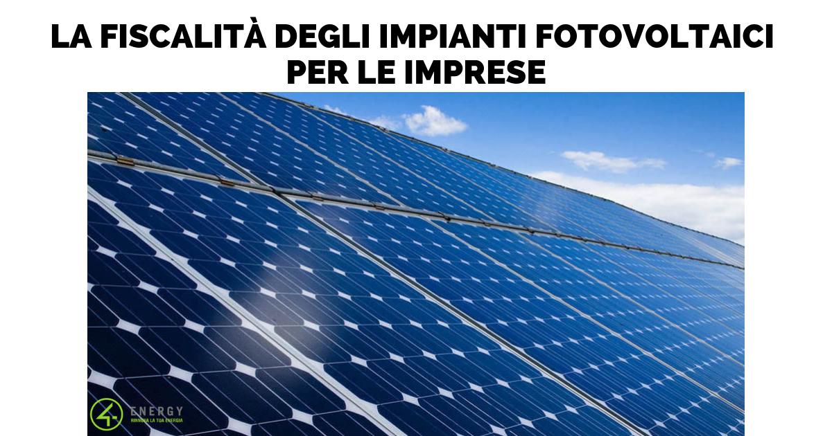 La fiscalità degli impianti fotovoltaici per i privati