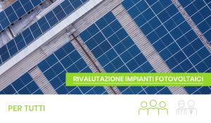 rivalutazione impianti fotovoltaici